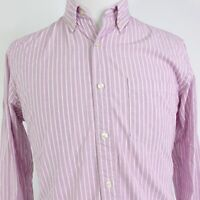 J CREW SLIM FIT STRIPED LONG SLEEVE BUTTON DOWN COTTON SHIRT MENS SIZE M