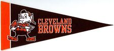 "CLEVELAND BROWNS~BRAND NEW MINI 9"" SOUVENIR MINIATURE NFL FOOTBALL TEAM PENNANT"