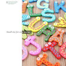 Fridge Wooden Magnet Baby Children Toy A-Z ABC Educational Alphabet 26 Letter A@