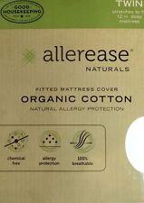 Allerease Naturals Organic Cotton Mattress Cover TWIN