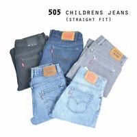 VINTAGE CHILDRENS LEVIS 505 STRAIGHT FIT JEANS GRADE A W24,W25,W26,W27,W28,W29,W