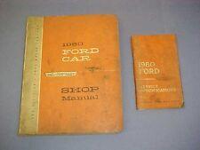 1960 ORIGINAL FORD CAR SERVICE SHOP REPAIR MANUAL 60 W/ WIRING DIAGRAMS SPECS