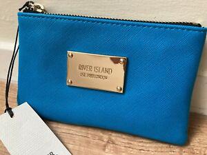 RIVER ISLAND blue mini purse new with tags