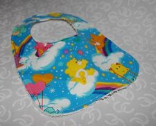 Handmade Rainbow Care Bears Baby Bib 100% cotton Terry Cloth Backing
