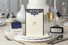 10x Elegant Wedding Invitation Card w/Envelop-Blue; Bulk Disc!!!
