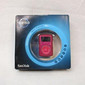 SanDisk Sansa Clip 2 GB FM Digital Media MP3 Player SDMX11R-2048P-A70B Pink NEW