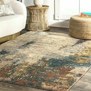 Brown Abstract Modern Area Rugs For Sale Ebay