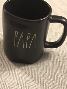 """Rae Dunn """"Papa"""" Black Coffee Mug. New 2020. ☕️"""