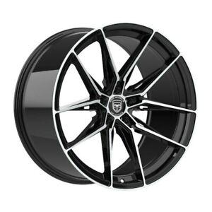 4 GWG HP1 19 inch Black Rims fits JAGUAR XJ - XJL 2010 - 2012
