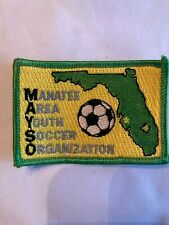 Manatee Florida Area Youth Soccer Organization Soccer Patch New