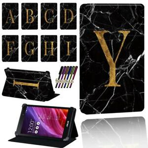 Black Marble Leather Smart Stand Case cover For Asus MEMO Pad 7 /8 /10 /Pad HD 7