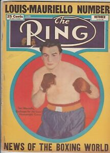 THE RING MAGAZINE TAMI MAURIELLO COVER OCTOBER 1946