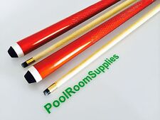 Maple Wooden Pool Snooker Billiard Cue Set 2x Two Piece Cues With Screw Tips