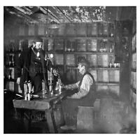 PHOTO 24 MINING SCENE INSIDE  OF CANNOCK CHASE COAL MINE STAFFORDSHIRE c1890