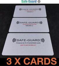 3x protector de seguridad ® RFID tarjeta de crédito/débito Inalámbrico bloqueador de ilegales, tarjetas de 3 Incluido