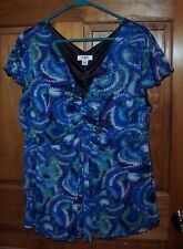 Womens Size 18/20W Cato Blues Cool Dressy Summer Pullover Top GUC