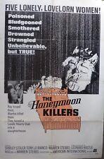The Honeymoon Killers poster,1969,original,RARO, 27 X 41 INCHES