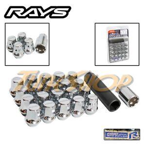 RAYS VOLK RACING 17 HEX WHEELS LOCK LUG NUTS 12X1.5 1.5 ACORN RIMS CHROME M