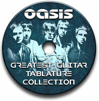136 x OASIS ROCK GUITAR TAB TABLATURE SONG BOOK SOFTWARE CD