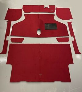 Classic Mini 9 piece Red deluxe full carpet set, NEW 1980 onwards