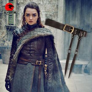 DFYM Arya Stark Cosplay Belt Faux Leather Brown Game of Thrones Season8 One Size