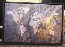 Large World Map Canvas Print