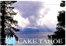 Lake Tahoe Postcard California Storm Clouds Nevada Trees Posted 1994