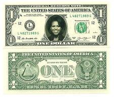 MICHELE OBAMA- VRAI BILLET DOLLAR US ! Collection Président Etats Unis 1ère Dame