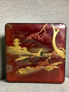 Beautiful Japanese Antique Lacquer Box Meiji Period 1900 Kobako Signed