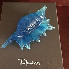 "RARE Daum France Pate De Verre Crystal Signed Spider of the Sea Shell 4.5"" NIB"