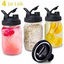 Mason Jar Lids 4 Pack Wide Mouth Mason Jars Canning Lids with Easy Pour Spout