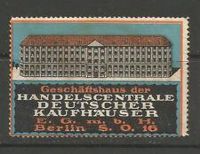 ALLEMAGNE/BERLIN handelscentrale Department Store Publicité TIMBRE/Label