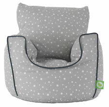 BeanLazy Cotton Stars Bag Armchair with Toddler - Grey
