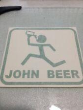 JOHN BEER - VINYL STICKER - IN GREEN - NEW :-)
