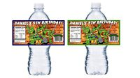 20 TEENAGE MUTANT NINJA TURTLES TMNT BIRTHDAY PARTY FAVORS WATER BOTTLE LABELS