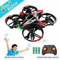 GEEKERA Mini Drone for Kids, 2 in 1 Remote + Gesture Control Helicopter RC