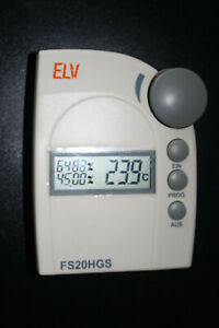 ELV FS20 HGS Funk-Hygrostat inkl. Wandmontageplatte baugleich Conrad