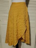 THML Yellow Long Skirt Zipper in Back Ties in Back Women's Size Medium