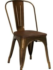 4x Tolix Style Metal Steel Industrial Dining Chair Stackable / Copper