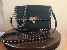 Valentino Garavani Rockstud Black Leather Shoulder Crossbody Bag $2875