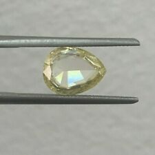 1.50 Carat GIA Pear Rose Cut Fancy Yellow Uneven SI2 Natural Loose Diamond