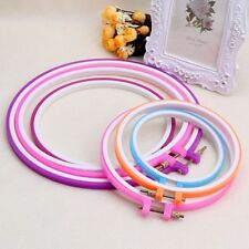 Cross Stitch Handy  Embroidery Hoop DIY Craft Sewing Tools Round Ring