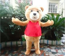 Teddy Bear Mascot Costume TED Movie Adult Halloween Cartoon Cosplay Fancy Dress!