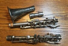 Vintage F. Barbier Bb Metal Clarinet Silver Plated 4 Peices