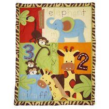Too Good Zoo Zoo Jungle 4 Pc Bedding Set Baby Crib Comforter Sheet Ruffle Stacke
