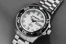 ARAGON Highly Revered 50mm DiveMaster AUTOMATIC Super Luminova Watch A054WHT