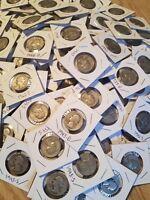 Washington Quarter 90% SILVER-1932-1964 Lot of 20 Quarters Coins