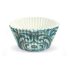 60 x Eddingtons Large Paper Baking Cup Cake Cupcake Muffin Cases Blue Rococo