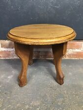 Vintage Oak Small Side Table Coffee Table Occasional Table