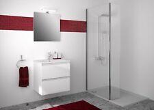 Meuble de Salle de Bain Set dessous de Lavabo 60 CM Lavabo Évier Miroir Sans